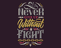 Never Give Up - Lettering