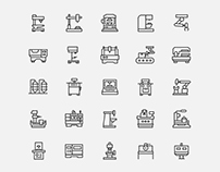 CNC Router Machine Icons