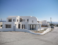 Residence complex in Santorini