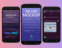 Free mockup for application presentation (Samsung S6)