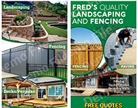 Fred's Quality Landscaping And Fencing DL Size Flyer