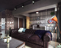 CGI - interior. Fabulous Marvel Heroes Themed House