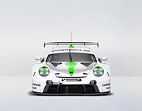 (2019) Porsche 911 RSR green livery package