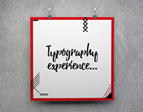 Typography Experience | TV Show