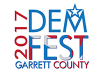 2017 DemFest Garrett County Logo