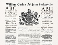 Caslon and Baskerville
