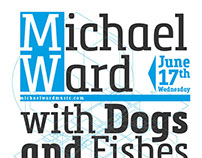 Michael Ward With Dogs and Fishes / Poster