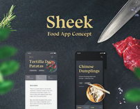 Sheek Food App Concept