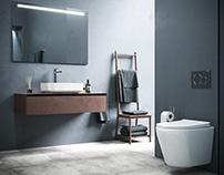 The modern bathroom for Ceramica NOVA