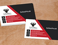 ScitecPro.sk logo and business card design