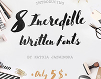 8 Incredible Written Fonts