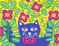 Mau in Flowery Tablet drawing