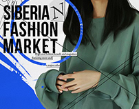 Illustration for the Siberian Fashion Market event