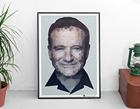 Robin Williams | Low-Poly Art Work