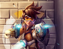 """Tracer"" Overwatch Video Game (Fan Art)"