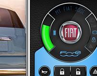 Fiat 500E Key App Design