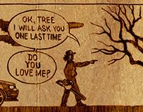 Lumberjack's courtship