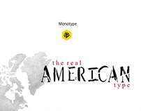 The real American type - Monotype