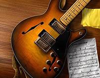 Photo real guitar