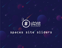 spaces site slider