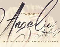 Angelic Brush & SVG Font