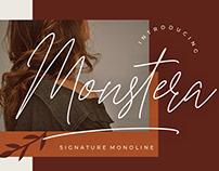 MONSTERA SIGNATURE MONOLINE - FREE FONT