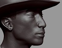 Pharrell Williams Head Sculpt