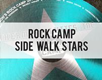 Rock Camp Side Walk Stars