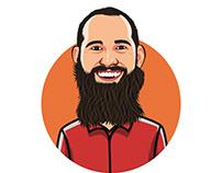 Cartoon portrait avatars for a company-team