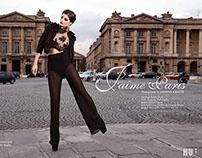 """J'aime Paris""  for HUF Magazine"