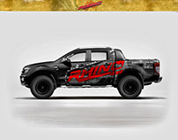 Ford truck wrap design for Rhino