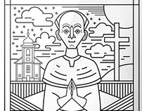 Portrait of a saint