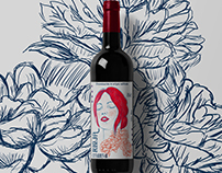 Wine Label Design+Illustration