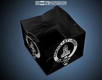 Free PSD Black Shopping Bag Mockups