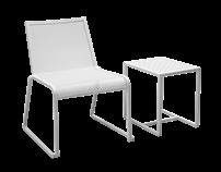 BONNIE | Aluminium Chair and Sidetable - Outdoor
