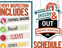 Banner and Flyer for Inside & Out Property Inspectors
