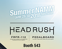 Headrush Social Graphics for Summer NAMM