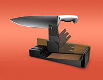 Sabatier Hidden Knife Sharpener