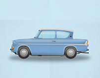 Os carros do Cinema - Ford Anglia 123 E -  Harry Potter