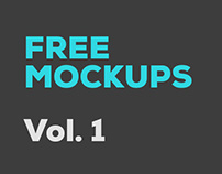 Free Photoshop Mockups: Vol 1