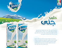 Package design - Jana Milk