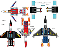 Transformers Paper Toy: Arielbots