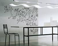 Street art, grafitti with posca markers in your office