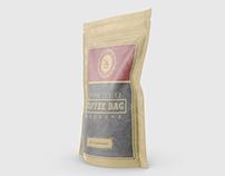 Brown Sealed Coffee Bag Mockups