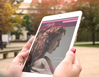 Digital Fashion Magazine Template for Tablets