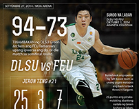 UAAP S77 Basketball Tournament: Post-game Infographics
