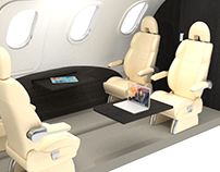 Diseño interior de business jet