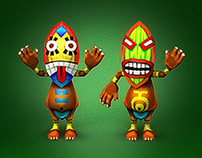 """Smash Frenzy 4. """"Jungle world"""". Low-poly Characters."""