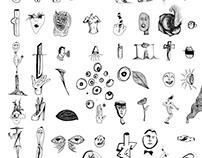 Illustrations - Minimaliste d'une très longue liste