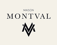 Identity for MAISON MONTVAL, luxury ski brand.